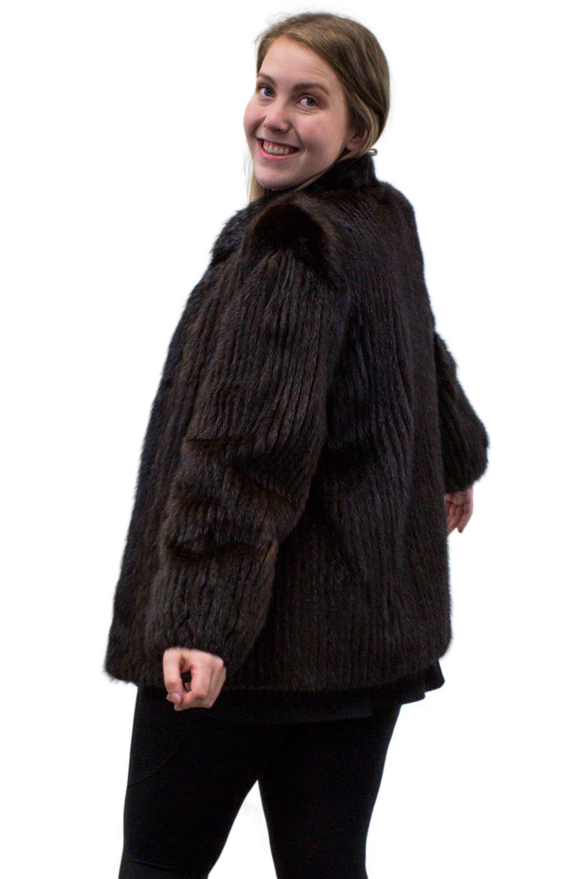 Vintage Corduroy Cut Mink Jacket