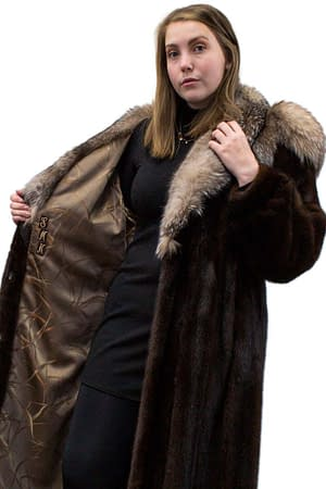Mink Coat with Fox Trim