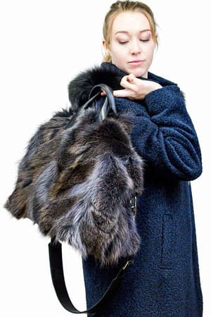 Coyote Fur Bag