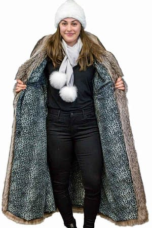 Full-Length Raccoon Coat
