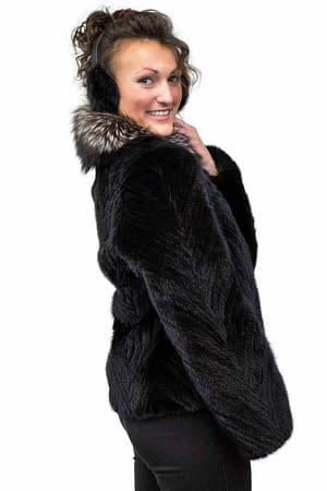 Mink jacket with fox fur