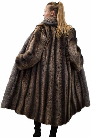 Vintage Raccoon Coat with Fox Trim