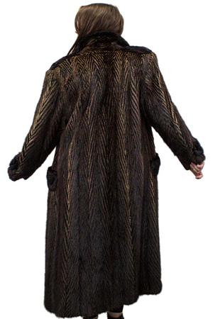 Vintage Two-Tone Muskrat Coat