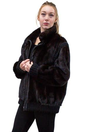 Vintage Mink Jacket with Zip Out Sleeves