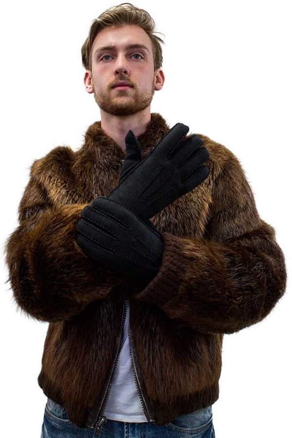 Handstitched Shearling Gloves