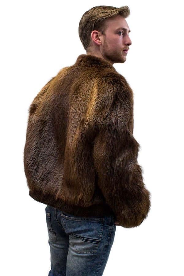 Vintage Beaver Jacket with Zipper