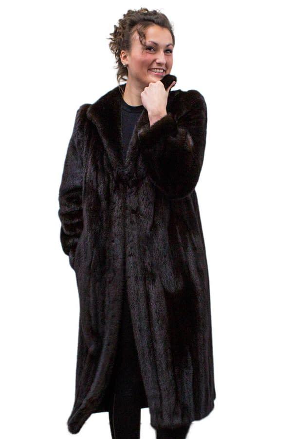 Vintage Dark Ranch Mink Fur Coat