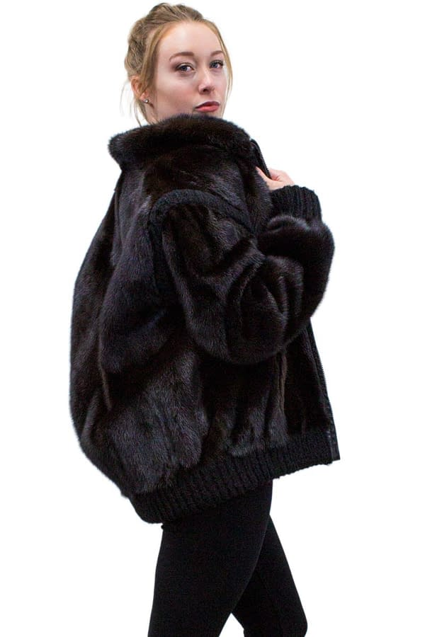 Vintage Mink Jacket with Zip Out Sleeves